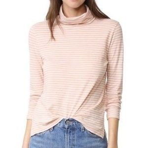 Madewell The Song Stripe Wispy Pink Turtleneck